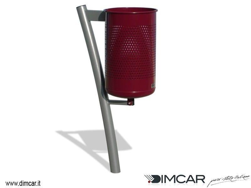 In-ground outdoor metal litter bin Cestino Flex by DIMCAR