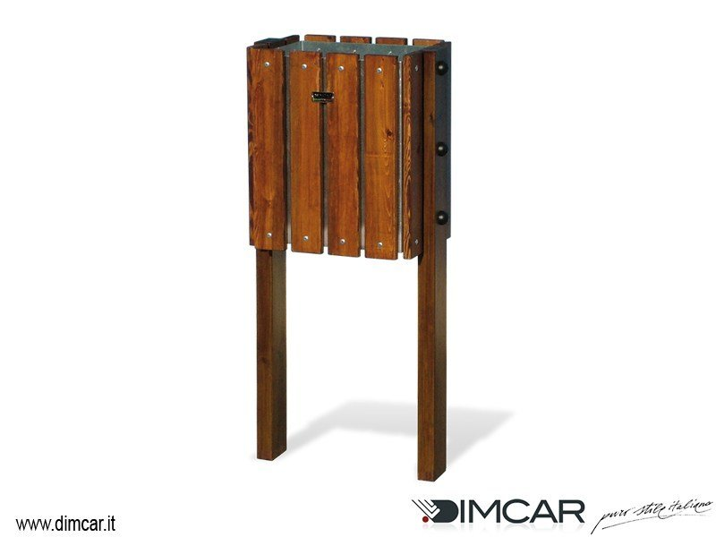 In Ground Outdoor Wooden Litter Bin Oikos By Dimcar