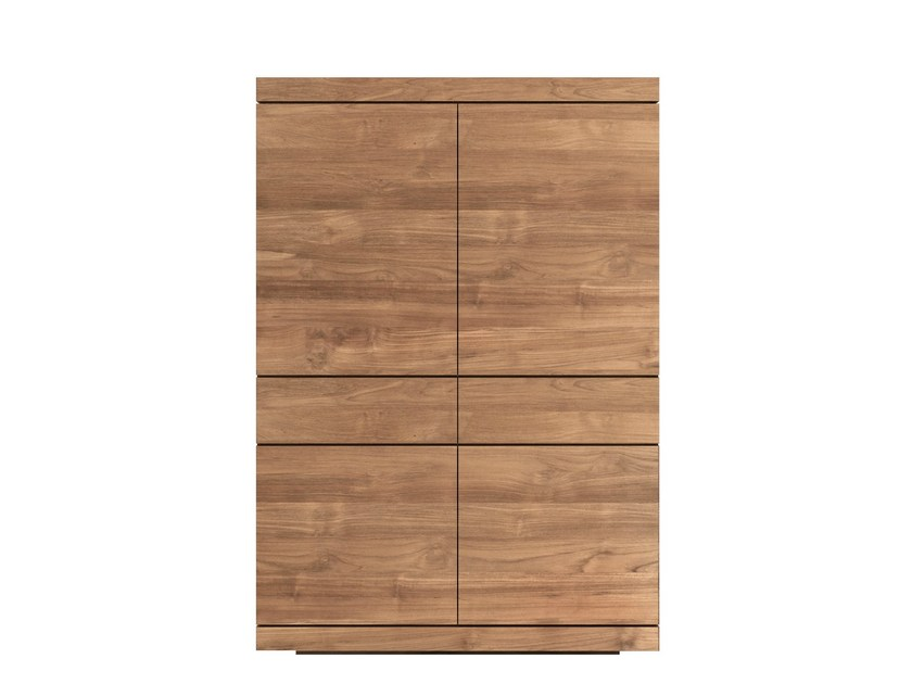 Solid wood highboard with doors TEAK BURGER | Highboard by Ethnicraft