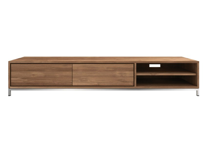 Low Teak TV Cabinet TEAK ESSENTIAL | Low TV Cabinet By Ethnicraft
