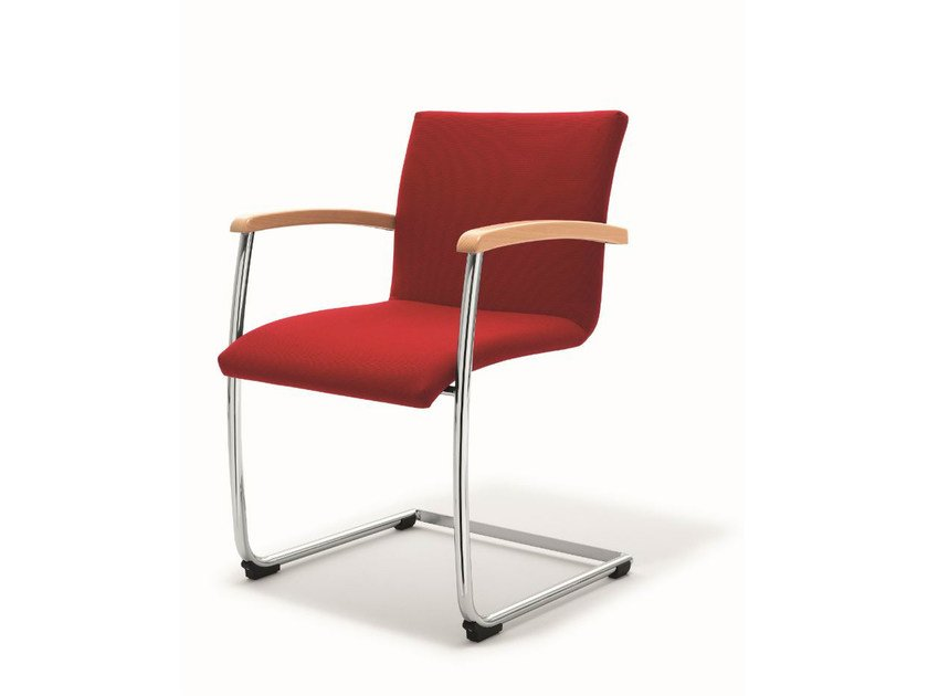 Cantilever stackable fabric training chair BUG | Fabric chair by BENE