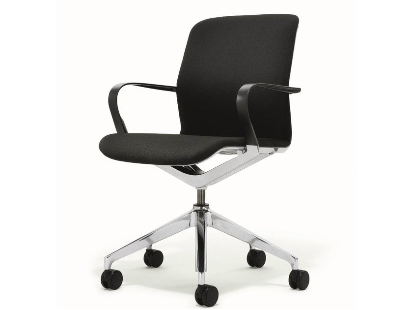 Task chair with 5-Spoke base with armrests with casters FILO CHAIR | Task chair by BENE