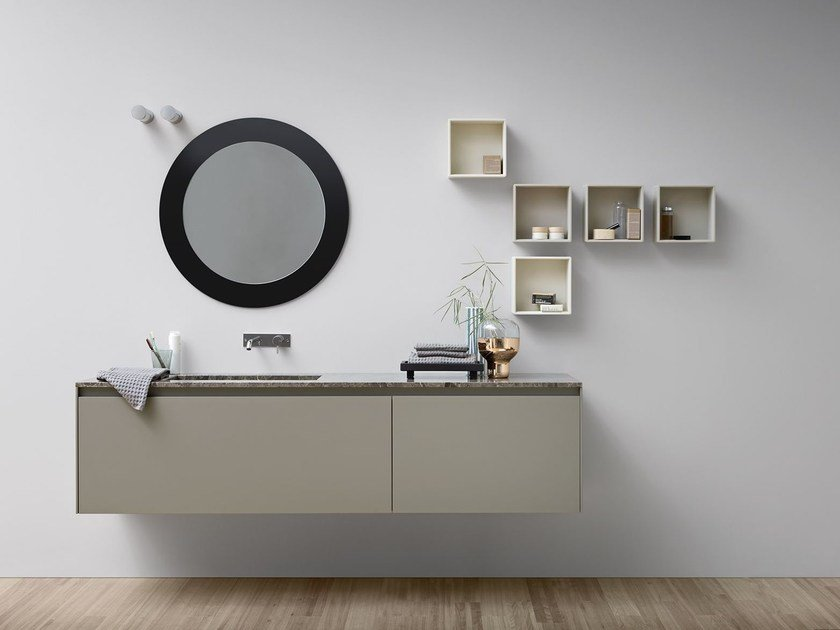 Lacquered single vanity unit MOODE | Lacquered vanity unit by Rexa Design