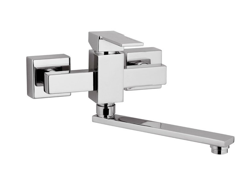 Wall-mounted kitchen mixer tap with swivel spout QUBIKA | Wall-mounted kitchen mixer tap by Remer Rubinetterie
