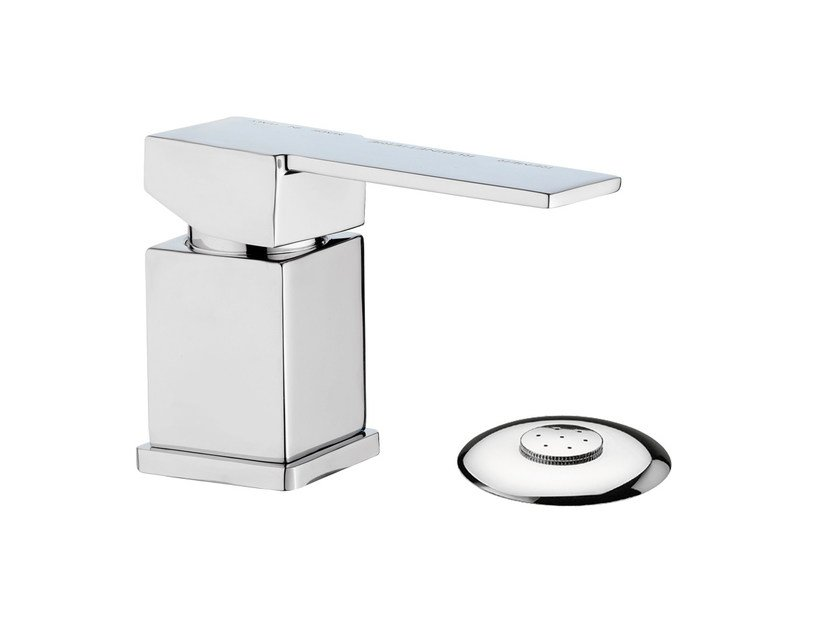 Chrome-plated single handle bidet mixer QUBIKA | Bidet mixer by Remer Rubinetterie