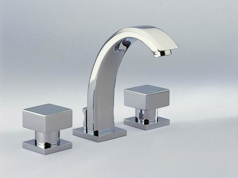 3 hole washbasin tap CUBICA | Washbasin tap by INTERCONTACT