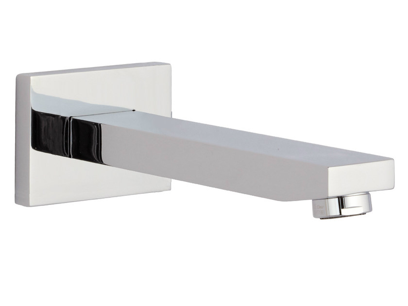 Chrome-plated wall-mounted bathtub spout QUBIKA | Wall-mounted spout by Remer Rubinetterie