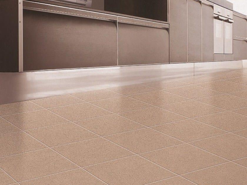 Glazed stoneware flooring MONDRIAN by ROMAX