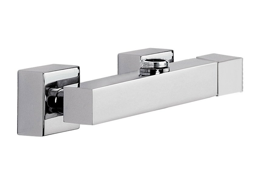 Chrome-plated single handle shower mixer QUBIKA | Chrome-plated shower mixer by Remer Rubinetterie