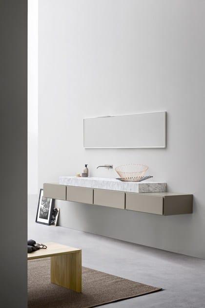 Mobile lavabo laccato singolo ESPERANTO   Mobile lavabo laccato by Rexa Design