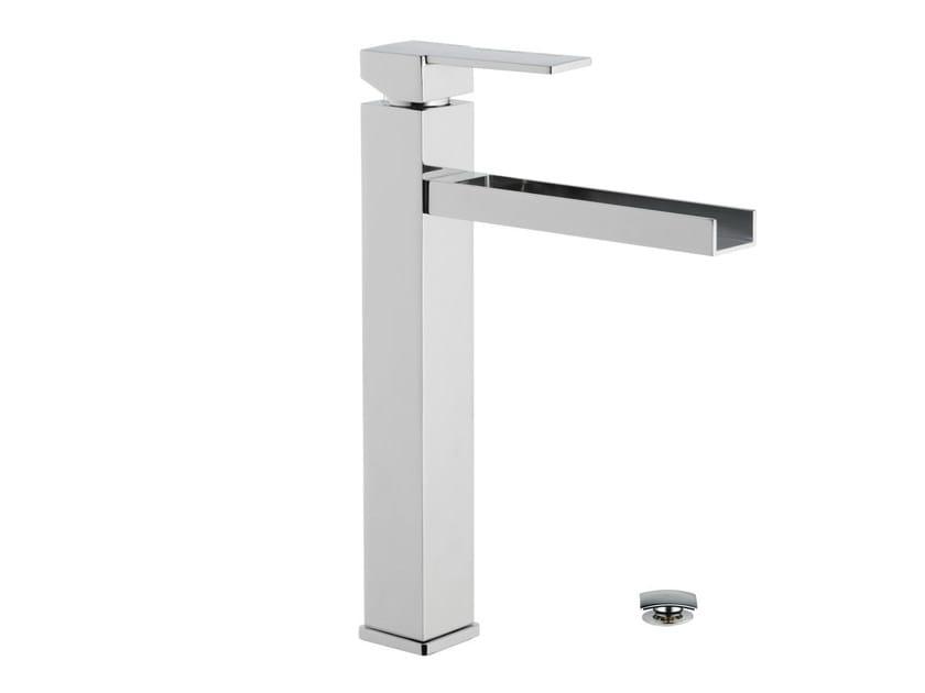 Chrome-plated single handle washbasin mixer QUBIKA CASCATA | Washbasin mixer by Remer Rubinetterie