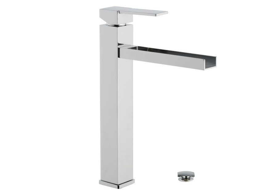 Chrome-plated washbasin mixer QUBIKA CASCATA | Chrome-plated washbasin mixer by Remer Rubinetterie