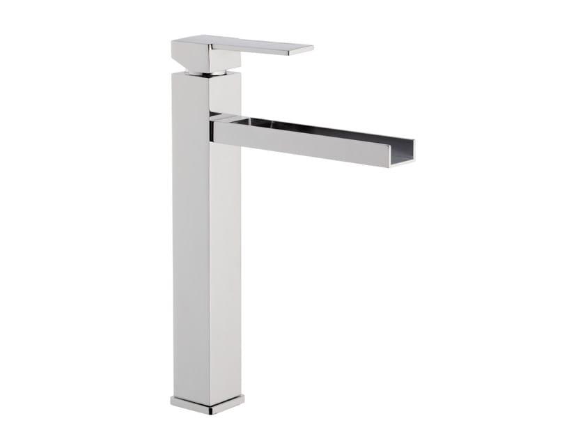 Chrome-plated single handle washbasin mixer QUBIKA CASCATA | Single handle washbasin mixer by Remer Rubinetterie
