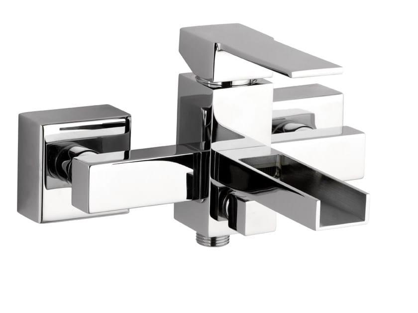 Wall-mounted bathtub mixer QUBIKA CASCATA | Bathtub mixer by Remer Rubinetterie