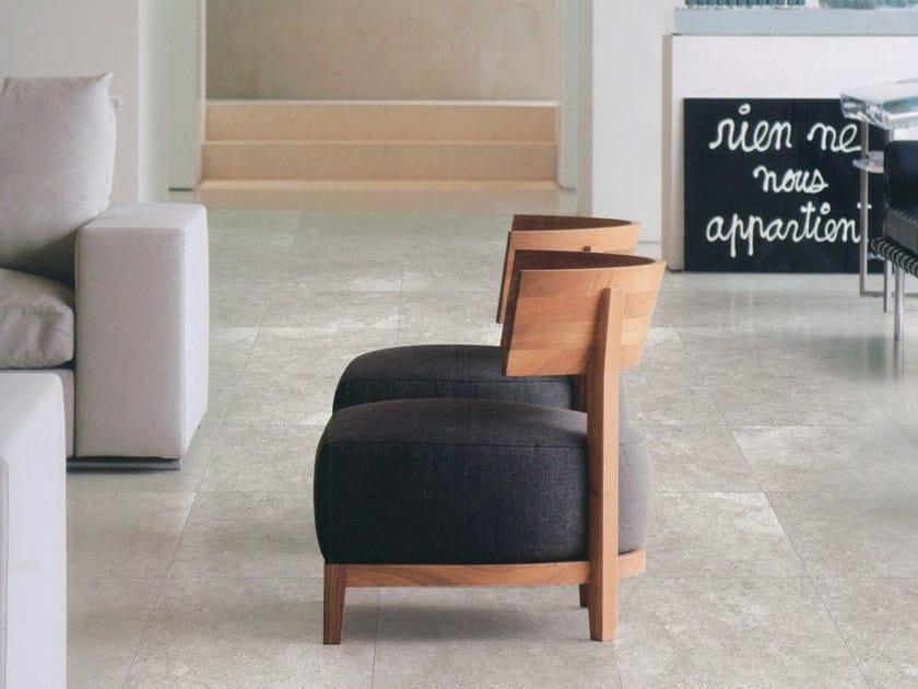 Glazed stoneware flooring SPELLO LIMESTONE by ROMAX