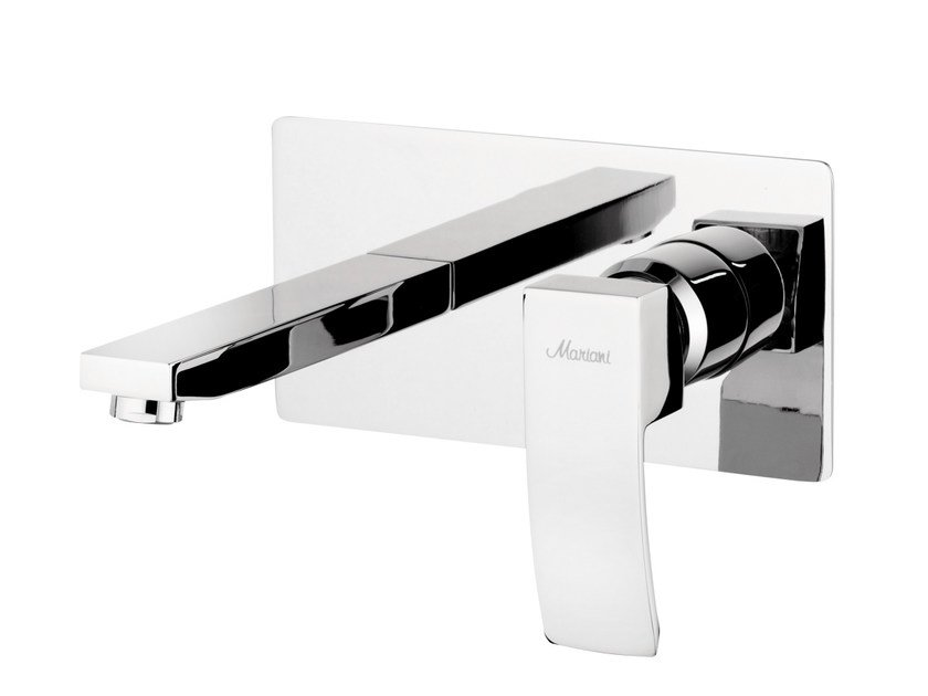 Wall-mounted single handle washbasin mixer MARTE | Wall-mounted washbasin mixer by Rubinetterie Mariani