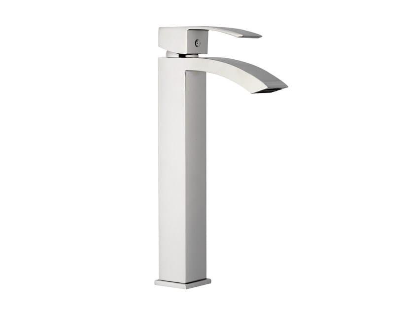 Chrome-plated single handle washbasin mixer without waste MARTE | Washbasin mixer without waste by Rubinetterie Mariani