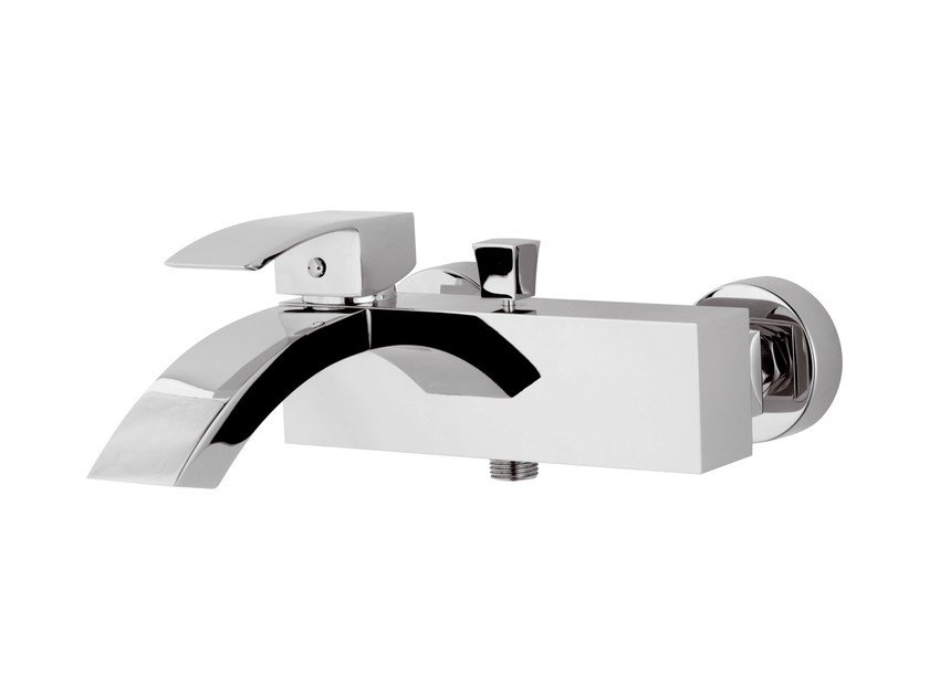 Wall-mounted chrome-plated single handle bathtub mixer MARTE | Bathtub mixer by Rubinetterie Mariani