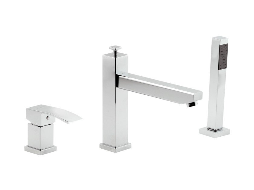 3 hole bathtub set with hand shower MARTE | Bathtub set by Rubinetterie Mariani