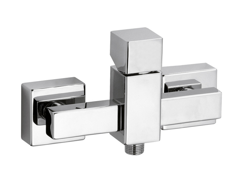 Chrome-plated single handle shower mixer RIVER | Shower mixer by Rubinetterie Mariani