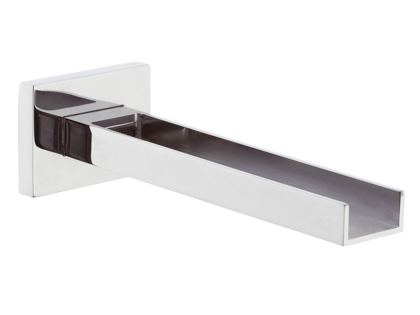 Wall-mounted waterfall spout with aerator RIVER | Waterfall spout by Rubinetterie Mariani