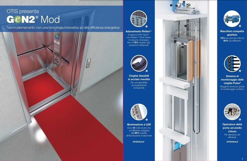 Lift for existing buildings Gen2® Mod by OTIS Servizi