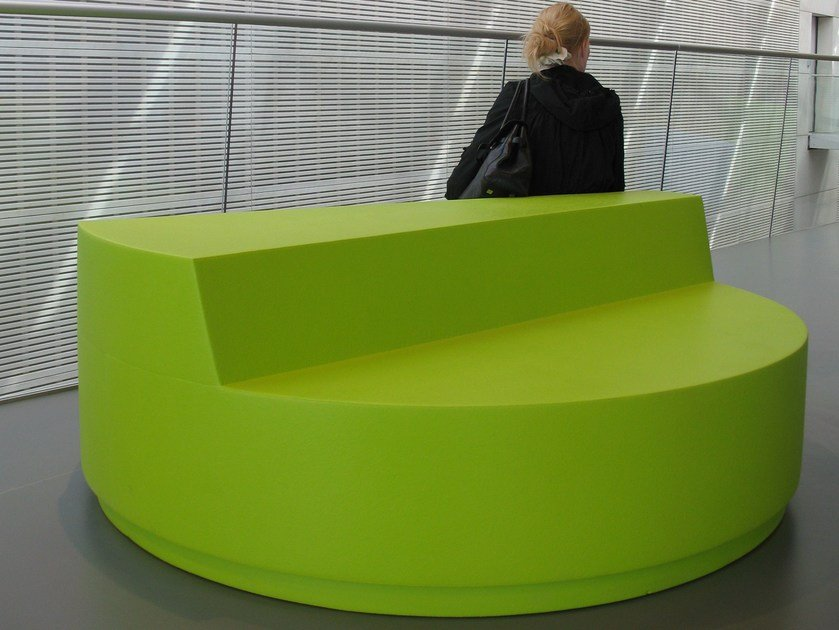 Bench seating with back CAKE by Quinze & Milan