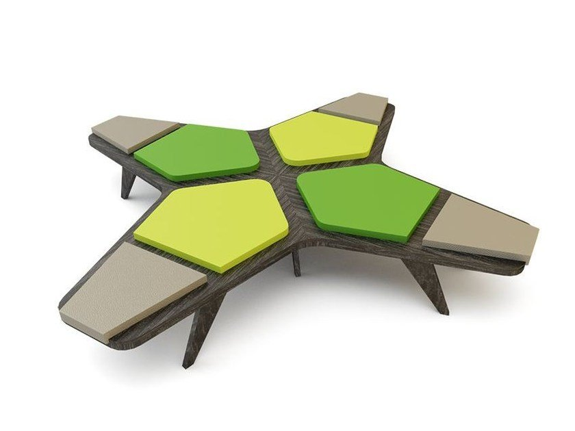Backless bench seating AIRBENCH SMALL CROSS by Quinze & Milan