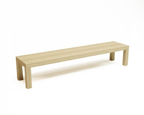 Backless wooden bench seating CAMPING BENCH 250 by Quinze & Milan