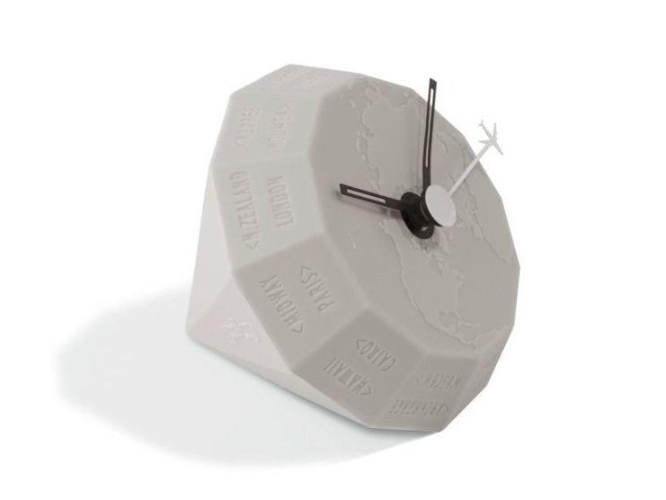 Table-top polyurethane gel clock GLOBE by Geelli by C.S.
