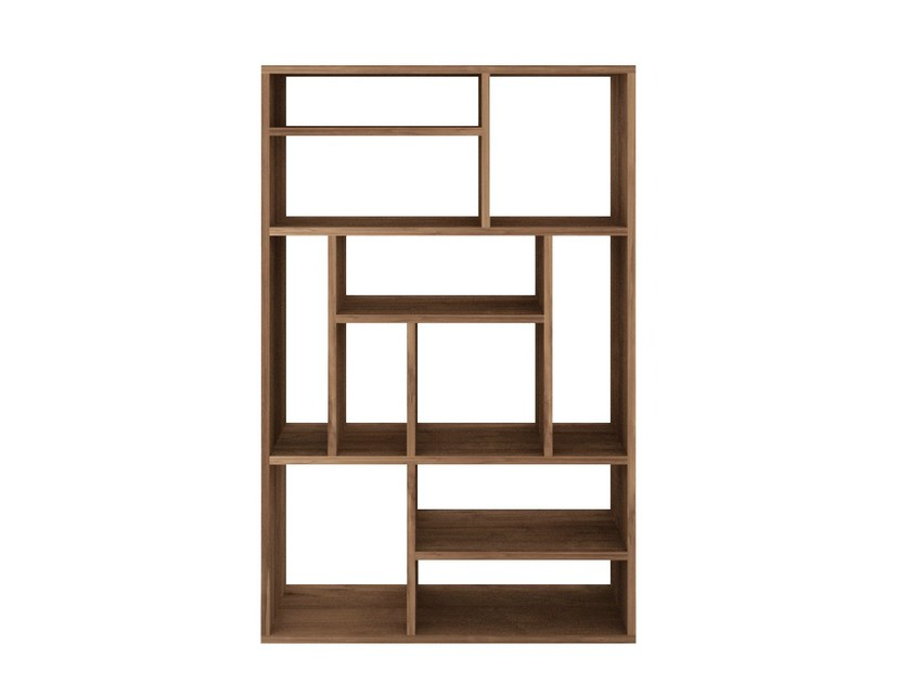 Open double-sided teak bookcase TEAK M-RACK | Bookcase by Ethnicraft