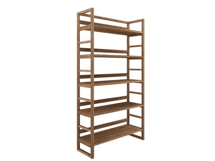 Open teak bookcase TEAK SKELET | Bookcase by Ethnicraft