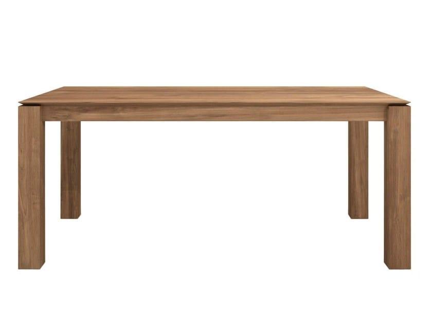 Rectangular teak dining table TEAK SLICE | Table by Ethnicraft