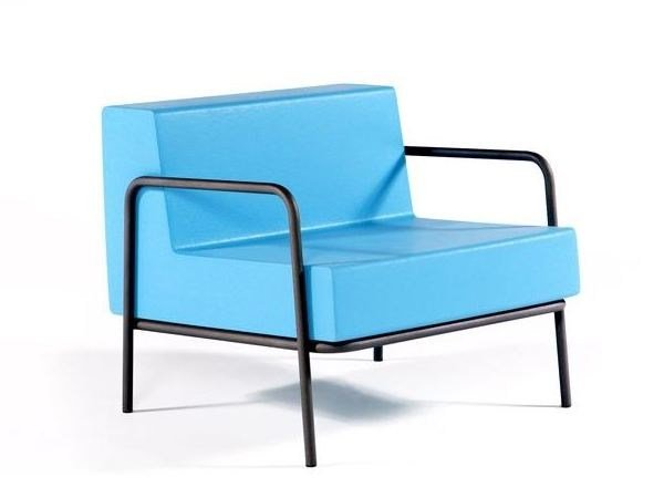 QM Foam lobby chair with armrests FRAME ARM 75 by Quinze & Milan