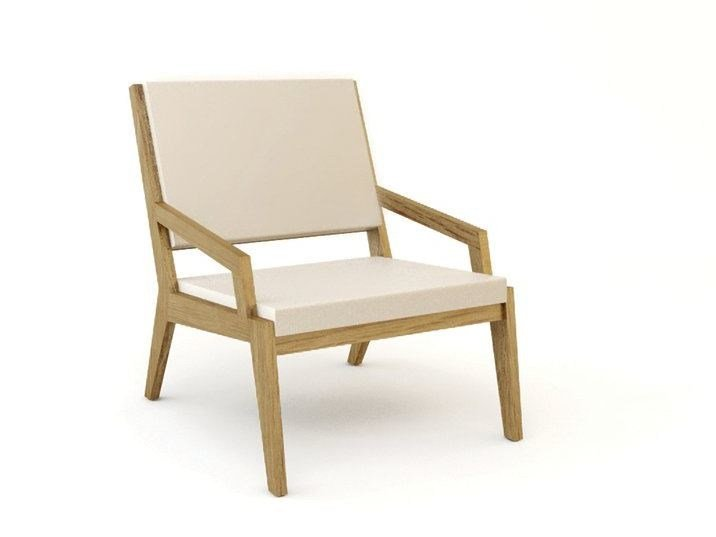Wooden easy chair with armrests ROOM 26 SEAT 04 by Quinze & Milan