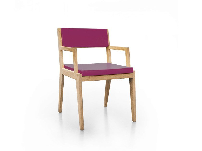 Wooden chair with armrests ROOM 26 CHAIR 04 by Quinze & Milan