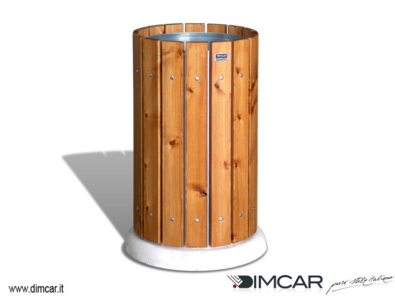 Outdoor Wooden Litter Bin Cestone Demos By Dimcar