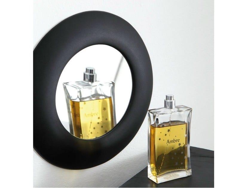Round wall-mounted polyurethane gel shaving mirror MIEBRAME ZOOM by Geelli