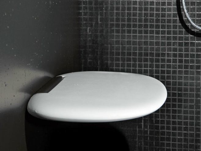 Folding polyurethane shower Seat VIOOD | Shower Seat by Geelli by C.S.