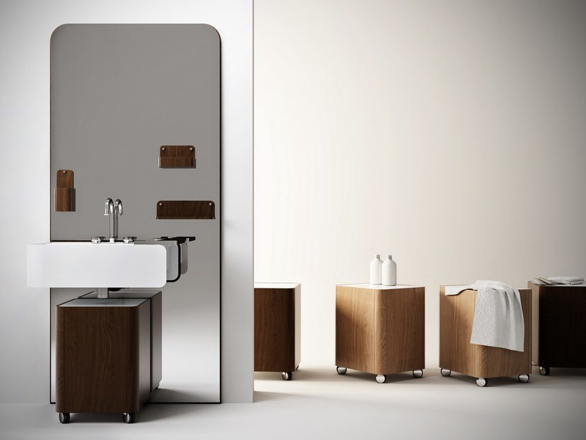 Vanity unit with mirror BEAUTY by Olympia Ceramica