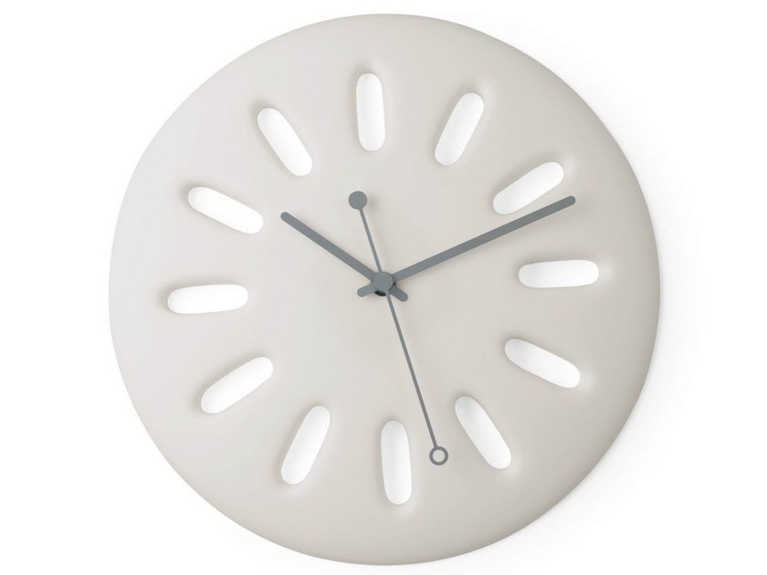 Wall-mounted polyurethane gel clock INTEMPO by Geelli