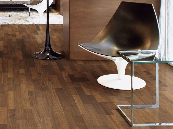 Floating walnut parquet DERVAL by Woodco