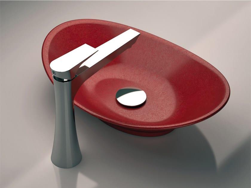 Chrome-plated single handle washbasin mixer without waste DIVA | Washbasin mixer without waste by Daniel Rubinetterie