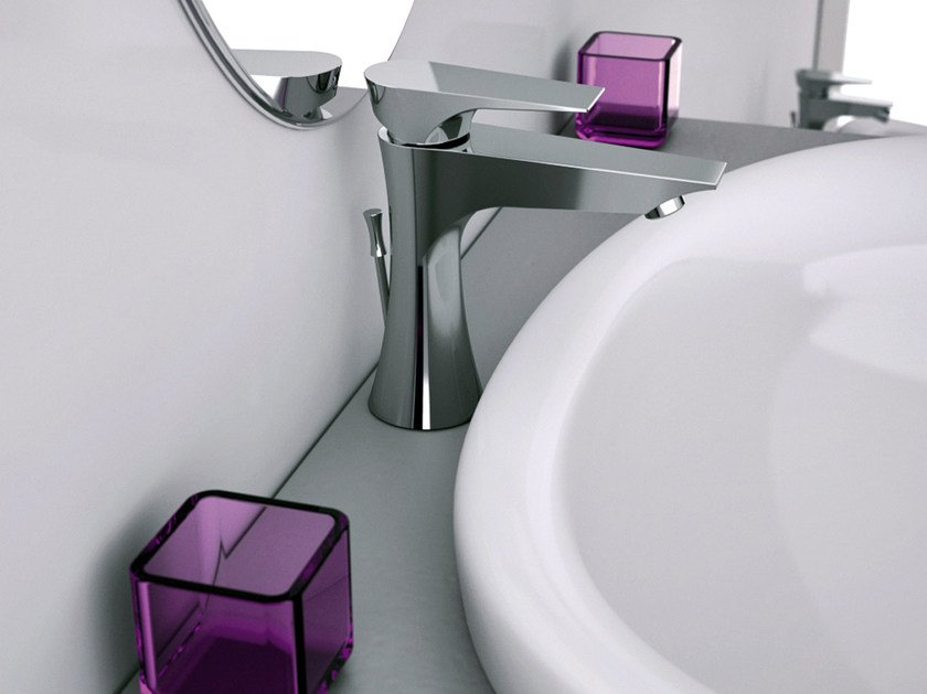 Chrome-plated single handle washbasin mixer DIVA | Single handle washbasin mixer by Daniel Rubinetterie
