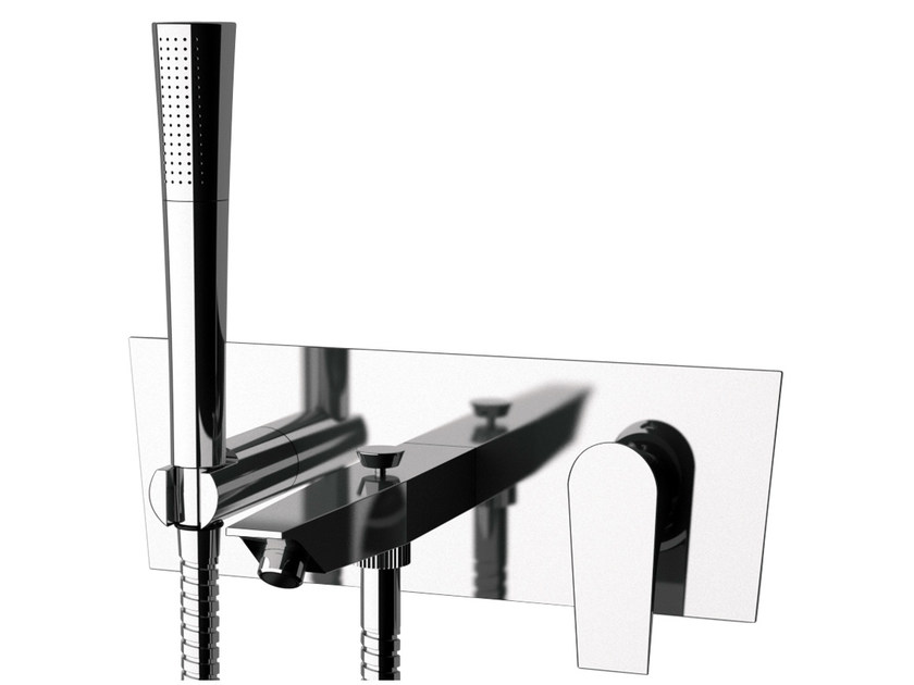 Wall-mounted bathtub mixer with hand shower DIVA | Wall-mounted bathtub mixer by Daniel Rubinetterie