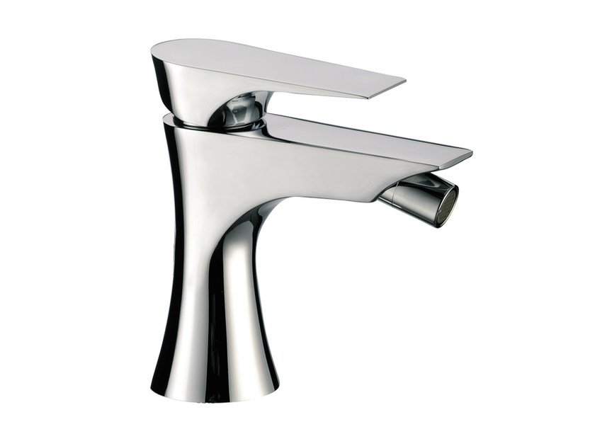 Chrome-plated single handle bidet mixer without waste DIVA | Bidet mixer without waste by Daniel Rubinetterie