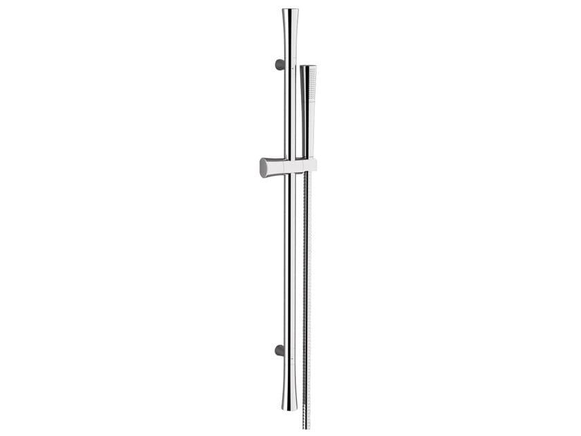 Chrome-plated shower wallbar with hand shower DIVA | Shower wallbar by Daniel Rubinetterie