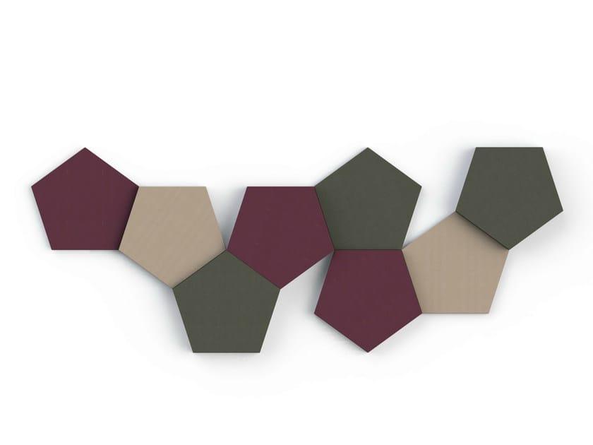 Decorative acoustical panel BUZZIBLOX PENTA by BuzziSpace