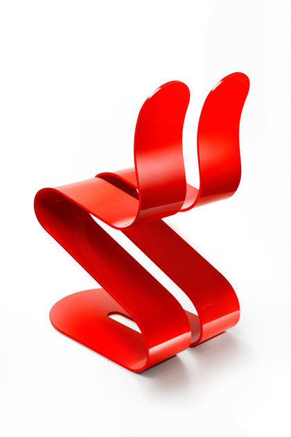 Ergonomic Stackable Lacquered Chair FLUID RIBBON | Lacquered Chair By  Lamberti Design