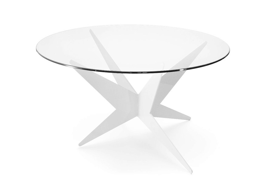 Low round coffee table STAR | Round coffee table by Lamberti Design